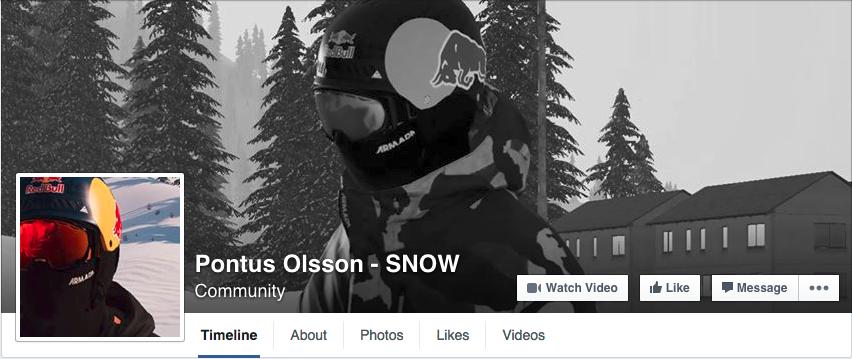 SNOW Pontus Olsson FB page