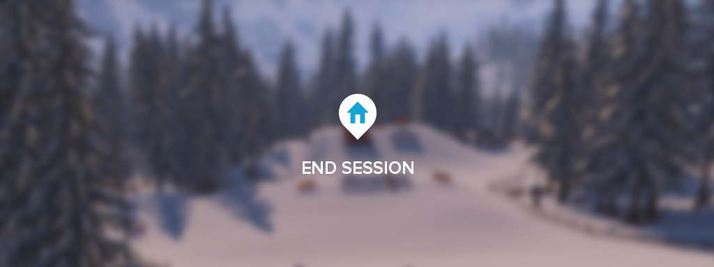 SNOW UI End Session Screen
